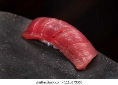 fine maguro shutoro nigiri sushi