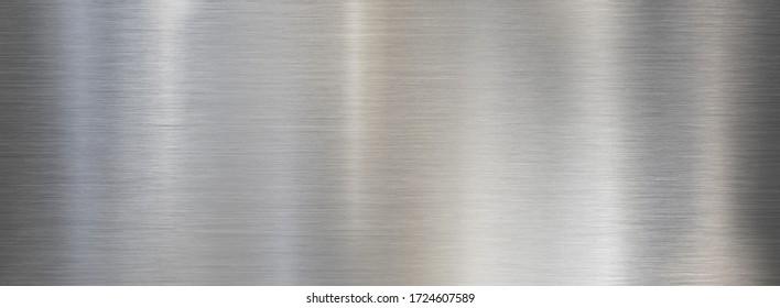 Fine metal brushed wide steel or aluminum textured background
