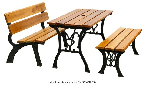 A fine table and two chairs on a white background