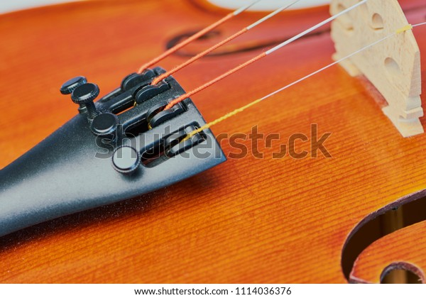 Fine Tuner Cut Out Wooden Violin Stock Photo (Edit Now
