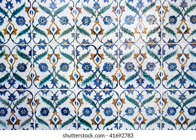 A finely decorated wall in the Topkapi Palace, Istanbul