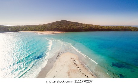 Fingal spit as the tide washes in.  Port Stephens Australia
