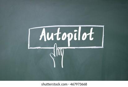 finger click autopilot symbol