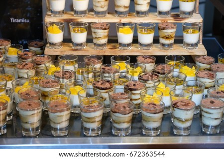 Finger Food Appetizer Table Setting Wedding Reception Stock Photo