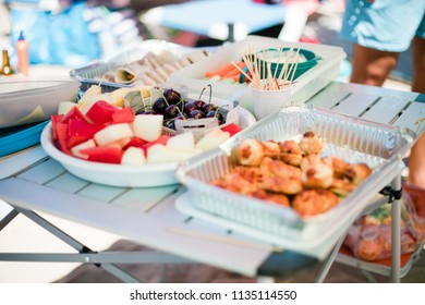 Finger Food Birthday Party Vegetables Sandwiches Stock Photo Edit