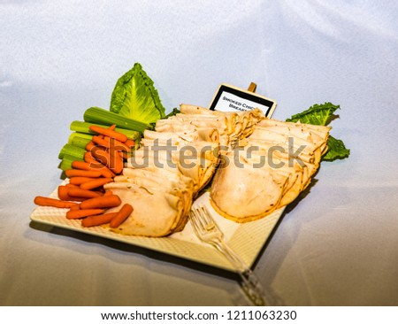 Finger Foods Wedding Reception Salami Cheese Stock Photo Edit Now