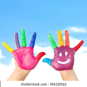 Finger, fun, green.