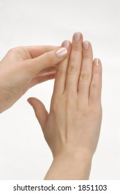 finger massage. hand