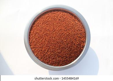 Finger Millet (Ragi) in a bowl