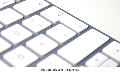 The finger on the keyboard pushes