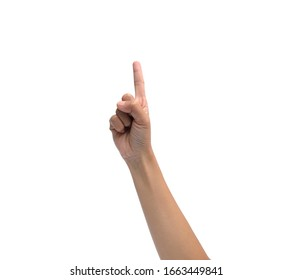 finger point isolated white background.