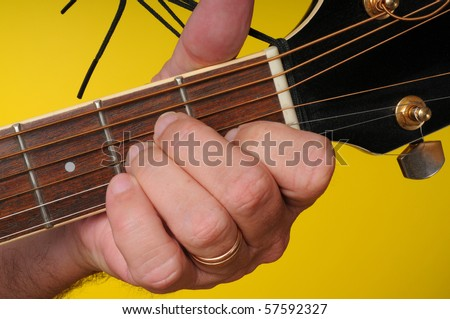 Finger Position A Minor Guitar Chord Stock Photo Edit Now 57592327
