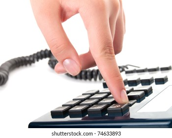 finger presses figure on a phone