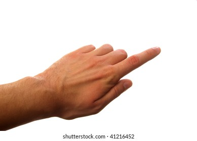 finger pressing your object