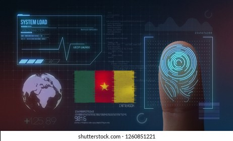 Finger Print Biometric Scanning Identification System. Cameroon Nationality