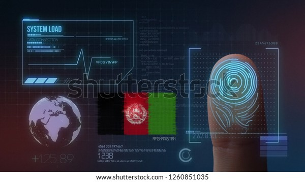 Finger Print Biometric Scanning Identification System. Afghanistan  Nationality