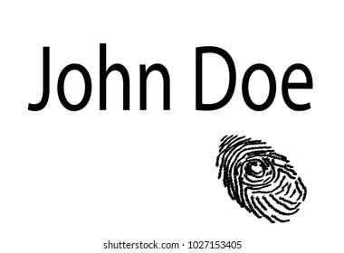 A finger print with the text John Doe