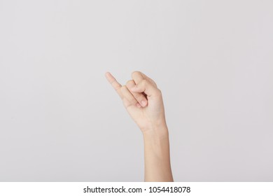 Finger Spelling the Alphabet in American Sign Language (ASL). The Letter J