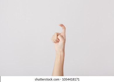 Finger Spelling the Alphabet in American Sign Language (ASL). The Letter X