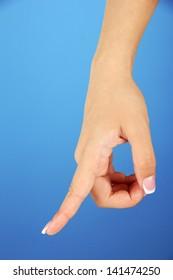 Finger Spelling the Alphabet in American Sign Language (ASL). Letter P