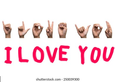 Finger Spelling the Alphabet in American Sign Language (ASL),I Love You.