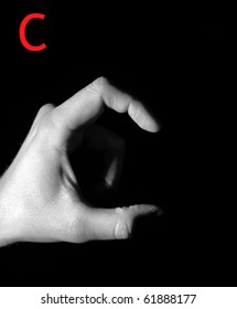 """Finger Spelling the Alphabet - Letter """"C"""""""