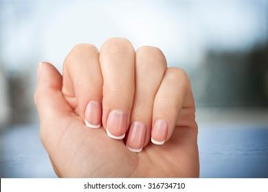 Fingernail Manicure.
