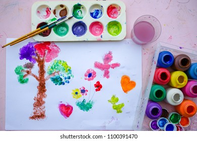 Fingerpaint is a kind of paint intended to be applied with the fingers, Painting is play therapy for ADHD kids (Attention deficit hyperactivity disorder),can be used to address emotional problems.