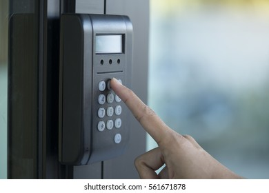 fingerprint and access control in a office building
