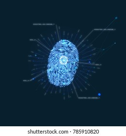 Fingerprint blue animation