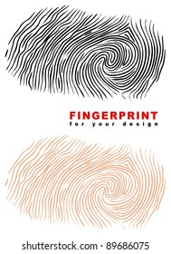 Fingerprint. Raster version.
