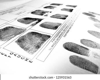 fingerprint record sheet