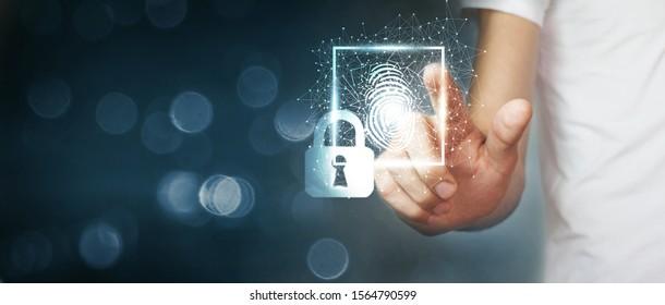 Fingerprint scan provides security access .