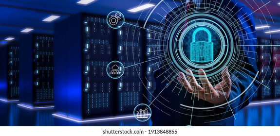 Fingerprint scan provides security access with biometrics identification.Futuristic Technology in smart business high efficiency using ai artificial intelligence,RPA,5g,big data,iot,vr,mixed virtual. - Shutterstock ID 1913848855