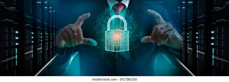 Fingerprint scan provides security access with biometrics identification.Futuristic Technology in smart business high efficiency using ai artificial intelligence,RPA,5g,big data,iot,vr,mixed virtual.
