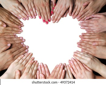 lot of fingers in form of heart