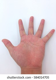 Fingers on a white background