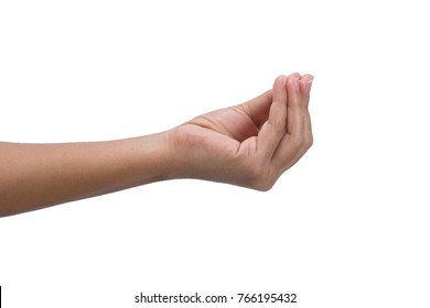 Fingers together , hand gesture