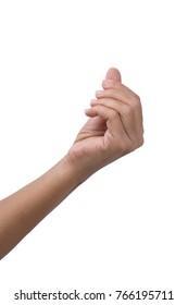 Fingers together , hand gesture