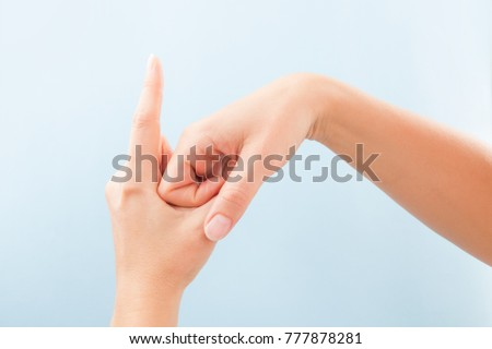 Fingerspelling Alphabet Female Hands Isolated On Stock Photo Edit