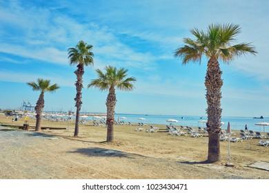 Finikoudes beach - Larnaca, beautiful summer photos, Cyprus