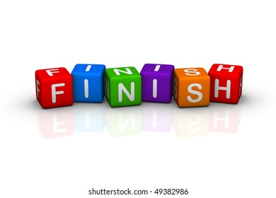 finish (buzzword colorful cubes series)