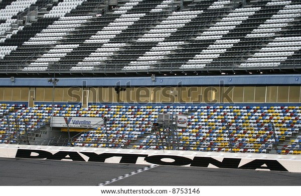 Finish Line Daytona 500 Speedway Daytona Stock Photo Edit Now