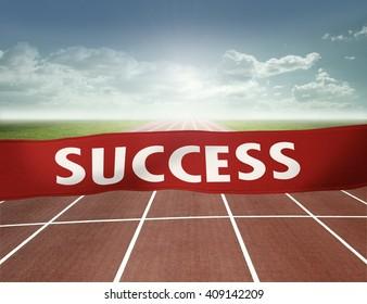 finish line to success