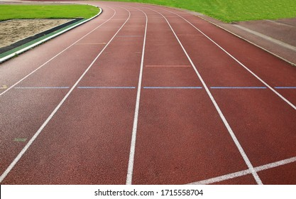 Finish lines - sign on the running track