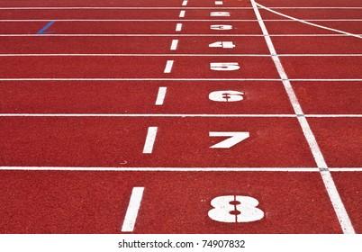 finish point on sport field