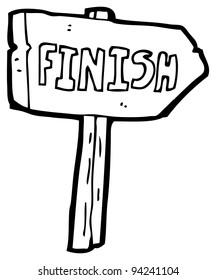 finish sign cartoon (raster version)