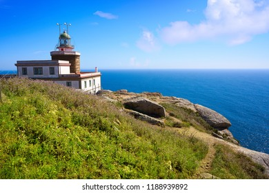 Finisterre lighthouse Fisterra at the end of Saint James way in Galicia Spain