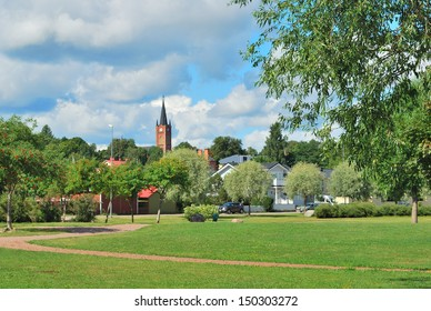 Finland. Beautiful town of Loviisa in a suny summer day ,