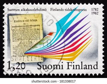 FINLAND - CIRCA 1982: a stamp printed in the Finland shows Om Konsten att Ratt Behaga, Bicentenary of the First Issue, circa 1982